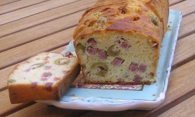 Recette de cake jambon olive sans gluten