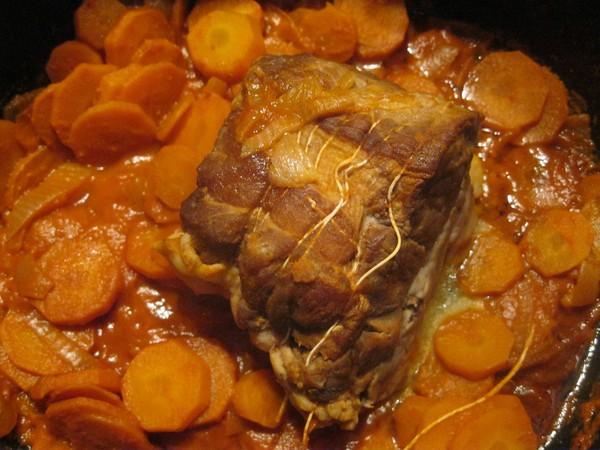 Recette de rôti de porc aux carottes